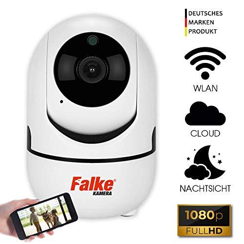 Falke 1080P WLAN Kamera IP, Full HD Überwachungskamera mit Nachtsicht, Bewegungserkennung, 2 Wege Audio und Intelligenter Rotation, Indoor-Kamera für Baby/Haustier-Monitor