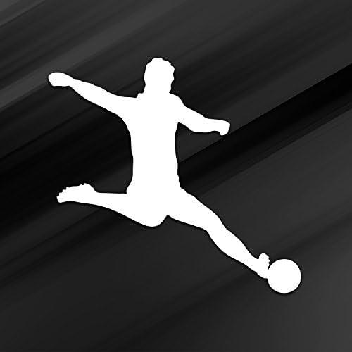 Vincit Veritas Soccer Decal Soccer Sticker White Vinyl Decal Sticker Soccer Mom Soccer Coach product image