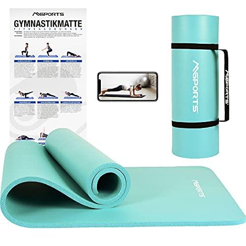 MSPORTS Gymnastikmatte Premium inkl. Tragegurt +...