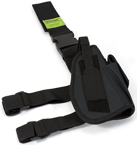 Nitehawk Drop Leg Gun/Pistol Holster Black Police Belt Tactical Sw