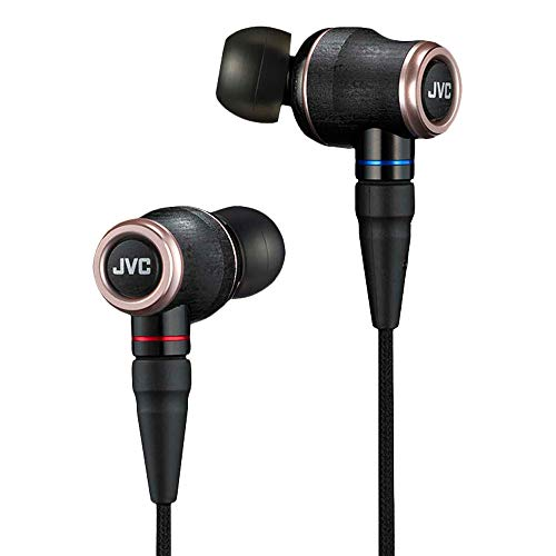 JVC HA-FW01 Wood Series IEM Class-S Solidege with Remote, Mic, and Detachable MMCX Cable