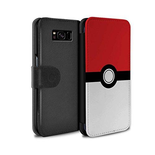 Hülle Für Samsung Galaxy S8/G950 Pokeball Anime Inspiriert Rot Design PU Leder Tasche Brieftasche Schutz Handyhülle Flip Case