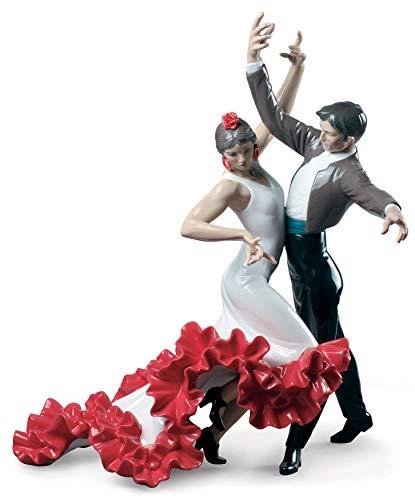 LLADRÓ Paar Figur Flamenco Tänzer. Flamenco. Porzellan.