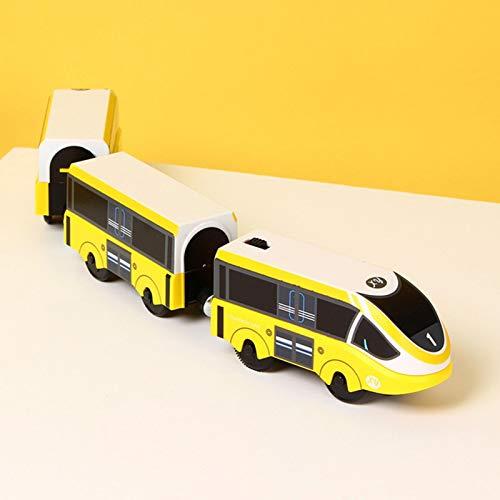 Ecisi Tren de Juguete eléctrico para niños, Duradero, Interesante, Tren magnético, Juguete de Tren en Miniatura, Compatible con Todas Las Pistas de Madera para niños y niñas, Regalos de cumpleaños