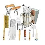 Kit de Herramientas de Apicultura -Beehive Fumador, Apicultura Accesorios -Bee Mantener la Herramienta (10PCS Set)