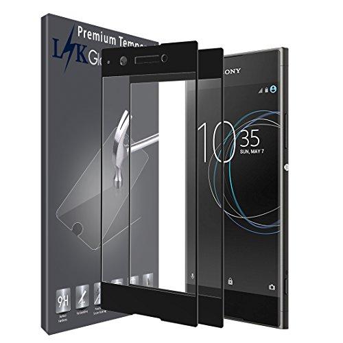LK [2 Stück Schutzfolie für Sony Xperia XA1, Sony Xperia XA1 Panzerglasfolie, Full Cover Gehärtetem Glas Hartglas Bildschirmschutzfolie