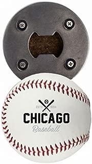 Chicago WS Bottle Opener, Made from a real Baseball, The BaseballOpener, Cap Catcher, Fridge Magnet
