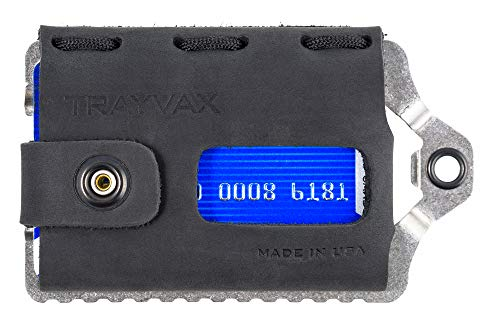 Trayvax Element Wallet (Raw | Stealth Black Leather)