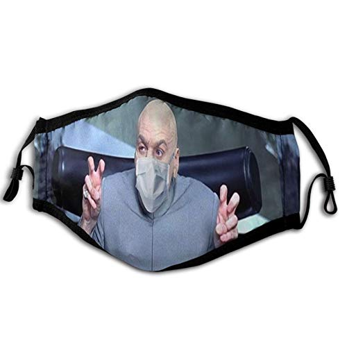 Gggzzu Dust Mask - Face Mask - Dr Evil Fashion Anti Dust Pollution Washable Reusable Adjustable Mask Unisex One Size Black