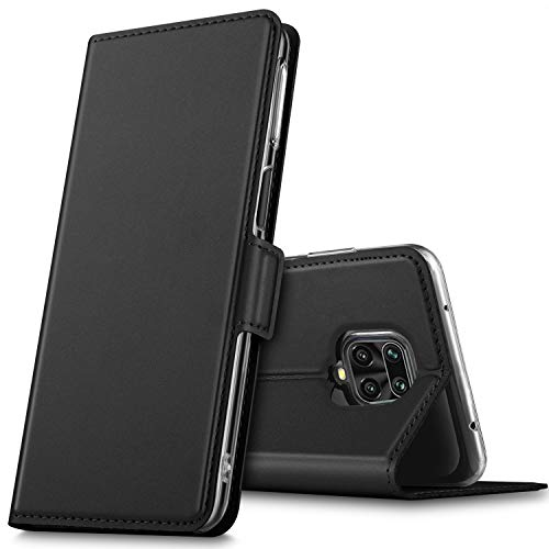Xiaomi Redmi Note 9s ケース 手帳型 KuGi Redmi Note 9 Pro/Note 9 Pro Max カバー 手帳 スタンド機能 カード収納付き 軽量 薄型 PUレザー 折り畳み式 全面保護カバー Redmi Note 9s マグネット式 ブラック
