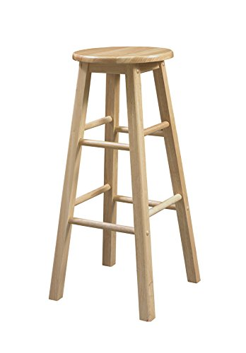 Linon 29Inch Barstool With Round Seat