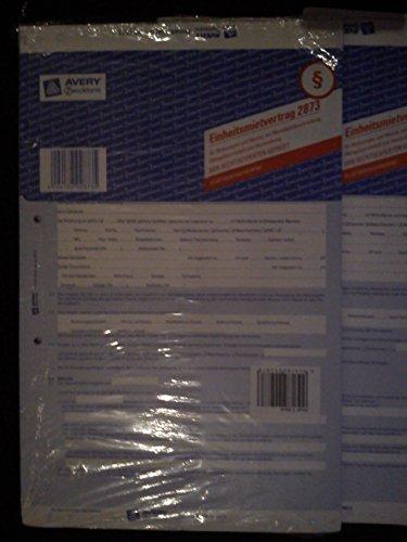 Avery Zweckform 2873 Einheitsmietvertrag A4/4-seitig SD mit Übergabeprotokoll