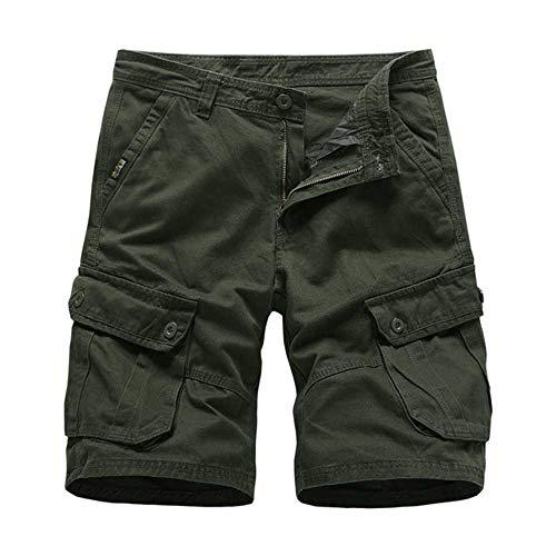 WANGJIE Heren Cargo Shorts Leger Militaire Tactische Shorts Mannen Katoen Losse Werk Casual Korte Broek