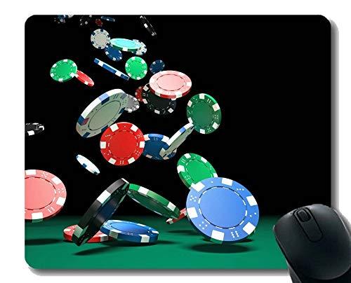 Personalisiertes Design-Mauspad, Pokerkarte Kunst-Mauspad Genähte Kanten