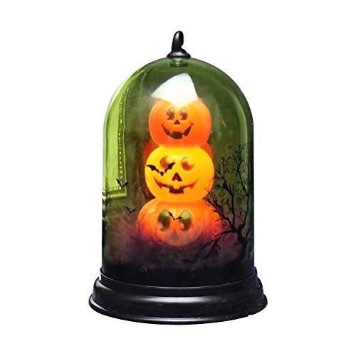 Ahagut Linterna de Calabaza de Halloween Decoración de Linterna Luces de Enchufe de Calabaza de Halloween al Aire Libre Accesorios de decoración de Fiesta (D)