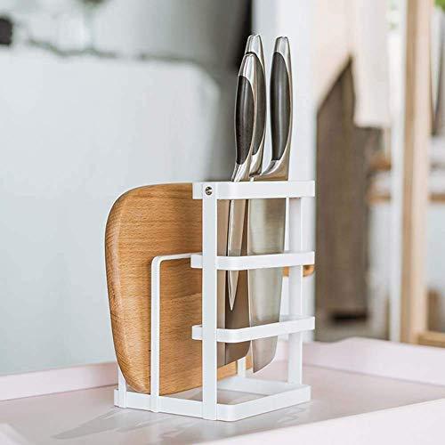 AJH Praktische Praktische Messerständer, Edelstahl Professional Placement-Tool Schmiedeeisen Messer Regal für Küchen Muti-Funktion Werkzeugaufbewahrung Abfluss Gestell