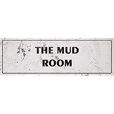 iCandy Combat Vintage The Mud Room Laundry Room Distressed Sign Wall Decor For Country Farmhouse On 12x36 Aluminum