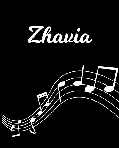 Zhavia: Sheet Music Note Manuscript Notebook Paper – Personalized Custom First Name Initial Z – Musician Composer Instrument Composition Book – 12 … Guide – Create Compose & Write Creative Songs