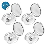 Balhvit Anti Snoring Devices, Silicone Magnetic Anti Snore Nose Clip to Ease Breathing, Set of 4 Nose Vents as Snoring Solution, Comfortable & Effective Stop Snoring Sleep Aid for Men Women