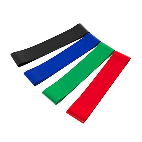 NO LOGO 4pcs / Set Elastic-Widerstand-Bänder Workout Gummischlaufe for Fitness Gym Krafttraining Elastische Bänder Fitnessgeräte Expander