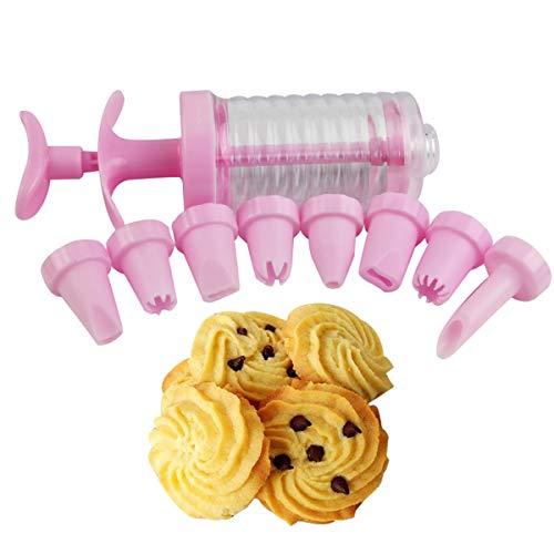 LaceDaisy 8 boquillas Máquina de la Bomba de la Prensa de la Galleta del Conjunto de la Prensa de la Galleta y del Helado Pistola para decoración de Tartas y Galletas