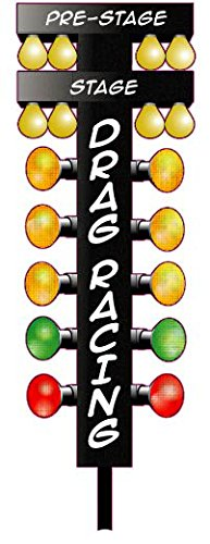 Nostalgia Decals Drag Racing Christmas Tree 4 ft Wall Decor Decal in The United States