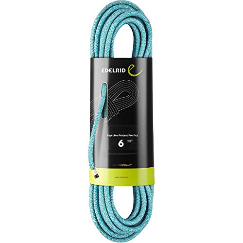 EDELRID Rap Line Protect Pro Dry 6 mm Kletterseil, Eisbein, 30 m