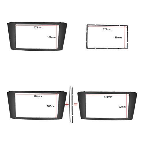 JYXZQZZ Ajuste para Toyota Avensis 2002 – 2008 Facia Radio DVD estéreo CD Panel Kit embellecedor marco de placa frontal