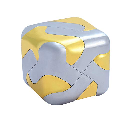 Puzzle Brain Teaser for Adults Cast Metal Cube Assembly Disentanglement Puzzles Fidget Toys