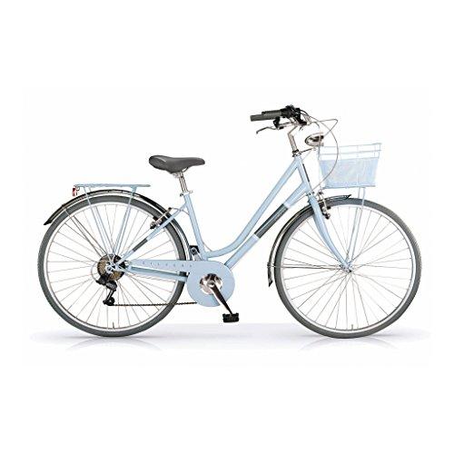 MBM Silvery, Bicicletta Donna, Blu (Azzurro A25), 28'
