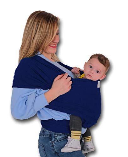 Fascia porta bambino bebé neonato LEOLEA Portaciuccio incluso e Box idea regalo. Marsupio neonati baby carrier wrap Cotone elastico naturale Morbido