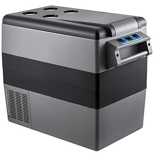 VEVOR Compressore Portatile 55L, Frigorifero Piccolo per Auto, Congelatore Veicolo per Auto Sh-CF, Camion Camper Mini Radiatore Elettrico per Viaggi, Pesca, Uso Esterno e Domestico