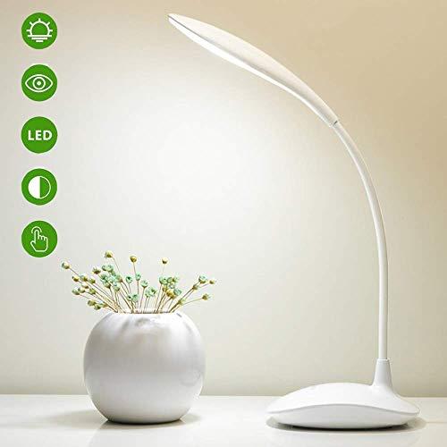 Lampada da Scrivania a LED Touch Sensitive,Lampada da Tavolo Ricaricabile a LED Dimmerabile,Lampada da Lettura Protezione degli Occhi e 3 Livello Luminosità con 360° Girevole