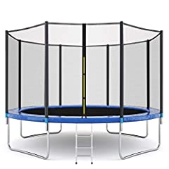 Soild Steel Kids/Adult Trampoline - Security issues are our primary concern.All Sports power Trampolines products are thoroughly tested for safety and durability. Fully galvanized steel frame for better resistance to rust and corrosion; 4 U-shaped bi...