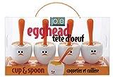 MSC International Egghead Egg Cup with Spoon, White/Orange