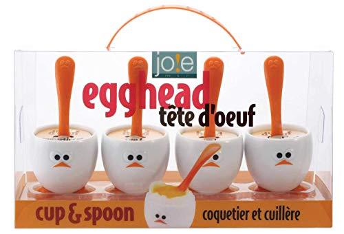 Joie 50388 Coquetier + cuillère Set, Plastique, Multicolore, 45x35x25 cm