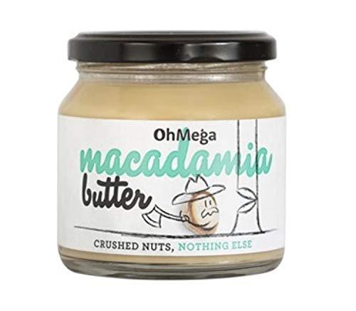OhMega Macadamia Butter 235 gram jar - 100{c5bb650304660fb553b7d5c8036d790e35a9793b38262686a22f57296bae3933} Geröstete Macadamia-Nüsse