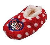 Zapatillas babuchas Infantiles Estar por casa Minnie Disney para niñas (31 EU, Rojo)
