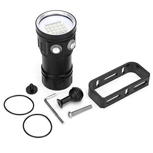 Keenso Lámpara de Buceo, Linterna de Buceo Super Brillante LED Recargable bajo el Agua Luces de Buceo a Prueba de Agua