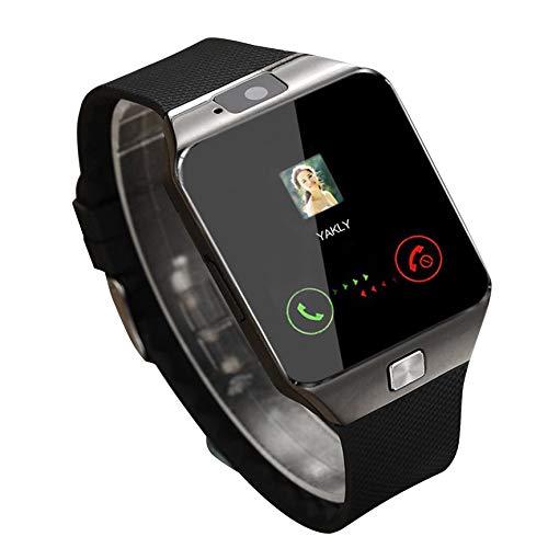 Peanutaoc Smart Watch Dz09, Smartwatch-Uhren, gold-/silberfarben, für iOS, für Android, SIM-Karte, Kamera-Uhr
