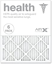 AIRx HEALTH 20x25x1 MERV 13 Pleated Air Filter - Made in the USA - Box of 6