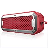 Stereo Bluetooth Lautsprecher Waterproof Outdoor Wireless Subwoofer Handsfree Support AUX TF Card 4000mAh Batterie,Red