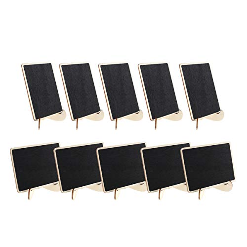 ROSENICE Mini pizarra 10 piezas pequeña pizarra con soporte signos de la pizarra de la boda tarjetas de mesa de boda
