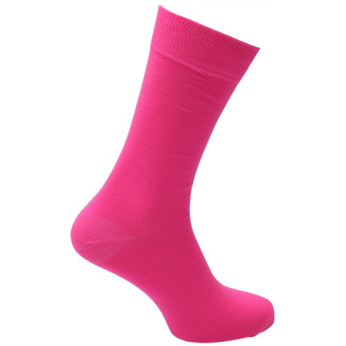 Universaltextilien Herren Socken in Neonfarben (39-46) (Neonpink)