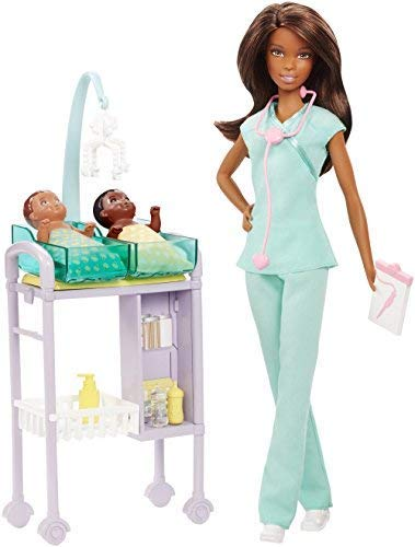 バービー人形Barbie Careers African American Baby Doctor Doll & Playset [並行輸入品]