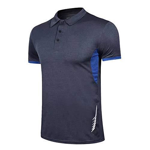 Herren Polo Hemden Kurze Ärmel Golf Trockener Sitz Performance T-Shirt zum Männer Sports Tshirts
