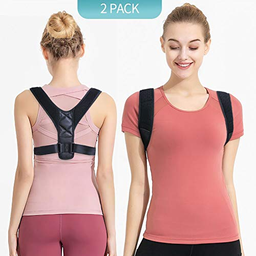 LeBoLike Posture Corrector for Men and Women - Adjustable and Comfortable Upper Back Brace for Clavicle Support and Providing Pain Relief from Neck Back and Shoulder (Universal)