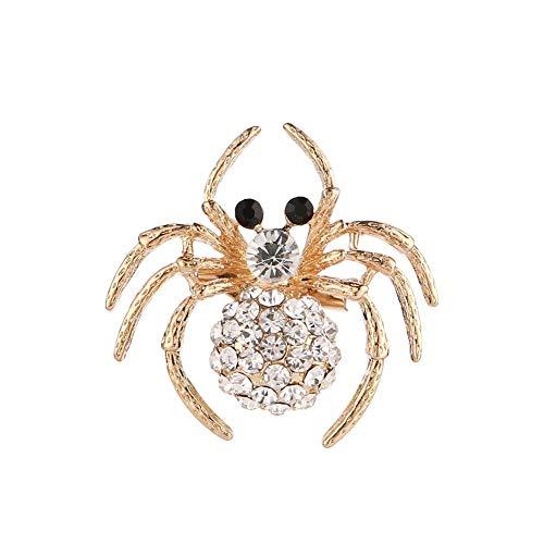 Miss charm Broche Araignée Animal De Haut Grade Diamants Boucles De Soie Joker Vêtements Accessoires Broche