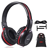 SIMOLIO IR Wireless Headphones for Car DVD/TV with Storage Bag, 2 Channel Car Headphones for Kids with 3.5mm Aux Cord, Automotive IR Headphones, Car DVD Infrared Headphone, Foldable and Durable