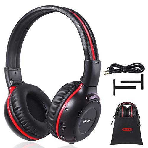 Simolio IR Kopfhörer für Auto DVD, 2-Kanal Infrarot Kopfhörer für Kinder mit 3.5mm Aux-Kabel, Faltbarer, Leicht, Perfekte Ergänzung zu unseren Kopfstützen, Deckenmonitoren & Rear Seat Entertainment
